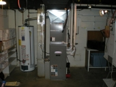 Heating, Air conditioning, HVAC services in Maryland and Northern Virginia Replaced both the Hot water heater and HVAC unit